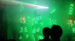 Light LED Show at The Laser Show - stock footage