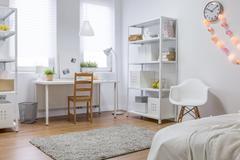 New design white room - stock photo