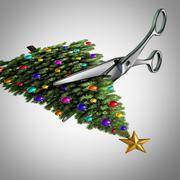 Cut Back On Christmas Stock Illustration