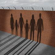 Immigration People On Border Piirros