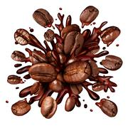 Coffee Splash Stock Illustration