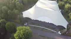 Aerial video of the Cirque/circus De Soleil tent Stock Footage