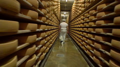 Gruyere cellar Stock Footage