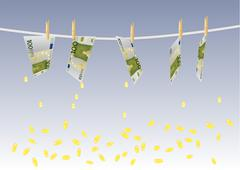 Background with melting money Stock Illustration