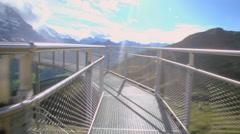 Jungfrau top of Europe - stock footage