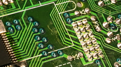 Slow move circuit board solder8 Stock Footage