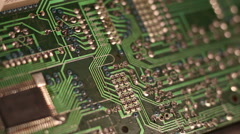 slow move circuit board solder3 - stock footage
