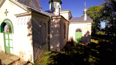 The small chapel on the small village in Peipsi Stock Footage
