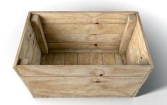Empty Wooden Box Stock Illustration