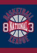 Basketball National League 83 Stock Illustration