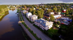 The beautiful sight of the city of Tartu in Estonia Stock Footage