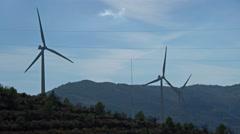 Windmills on the hillside near Lanjarron, Spain turning in the breeze. Stock Footage