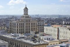 Old Havana architecture in Cuba. - stock photo