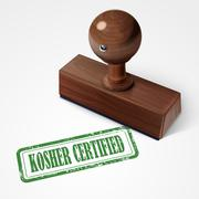 Stamp kosher certified in green Stock Illustration