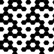 Checkered geometric hexagon background seamless pattern Stock Illustration