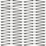 Cane flat woven white fiber seamless pattern - stock illustration