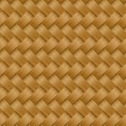 Cane woven fiber seamless pattern - stock illustration