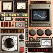 Vinatge control panel Stock Photos