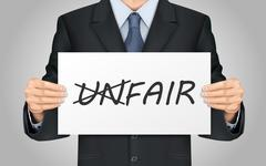 Stock Illustration of businessman holding fair poster