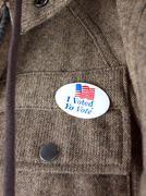 I voted sticker Stock Photos