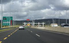 Paragraph fares on toll road in Ireland Stock Photos