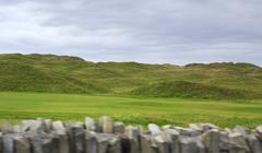 Beautiful green golf course in rural Ireland Stock Photos