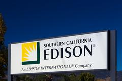 Southern California Edison Sign and Logo - stock photo