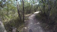 Mountain Biking on Single track Stock Footage