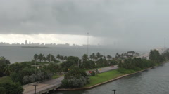 Tropical Storm / Hurricane Coming to Miami HD Stock Footage