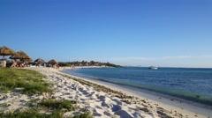 Arashi Beach on Aruba Stock Footage