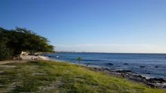 Stock Video Footage of Boca catalina Beach on Aruba
