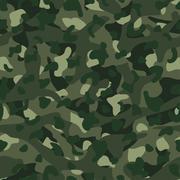 Green mountain disruptive camouflage  seamless pattern - stock illustration