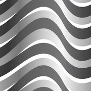 Grey abstract wave in a seamless pattern - stock illustration