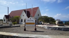 Seroe Colorado Community Church on Aruba Stock Footage