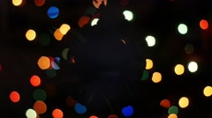 Christmas ball rotates at background of bokeh Stock Footage