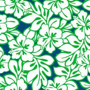 Stock Illustration of Hibiscus tropical leaves in a seamless pattern