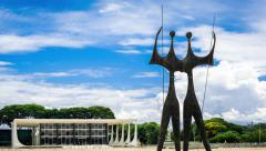 Timelapse View of Three Powers Square (Praca dos Tres Poderes), Brasilia, Brazil - stock footage