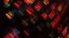 Abstract lights bokeh on black background. Shape - stock footage