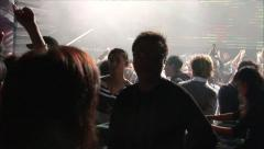 Crowded dancefloor, Shanghai nightclub Stock Footage