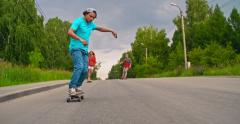Exhilarating Longboarding Experience - stock footage