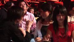 Drinking games, Shanghai nightclub, girls - stock footage