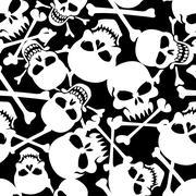 Lots of skulls. Stock Illustration