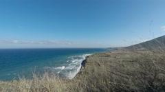 Wild coast of santorini Stock Footage