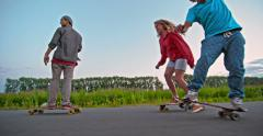 Longboarding Crew Stock Footage