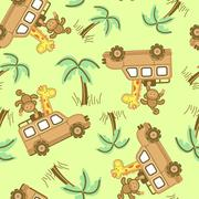 On safari. Piirros