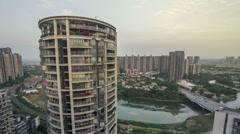 China city night scene, chengdu - stock footage