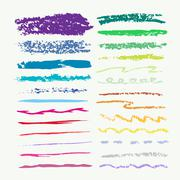 Art brush strokes - stock illustration