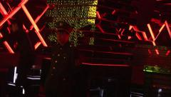 Uniformed nightclub security guard, China Stock Footage