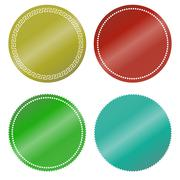Stickers color blank Stock Illustration