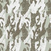 Snow distressed camouflage seamless pattern - stock illustration